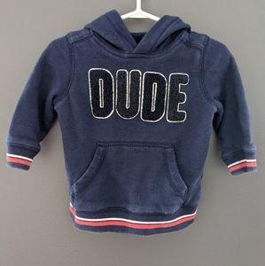 """Navy blue """"dude"""" hoodie"""